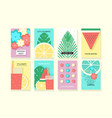 universal summer posters set vector image