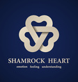 abstract shamrock heart symbol vector image