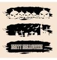 Halloween black grunge banners vector image