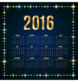 Flash Happy New calendar vector image