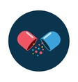 Pills vitamin icon of medication and medicaments vector image