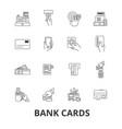 bank cards credit debit money visa own vector image