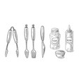 bbq and grill tools isolated on white background vector image