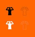 boxer black and white set icon vector image