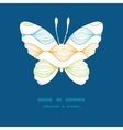 colorful horizontal ogee butterfly vector image
