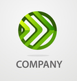 round business logo vector image
