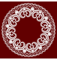 Round openwork lace border Realistic vector image