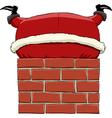 santa in the chimney vector image