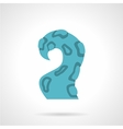 Single blue tentacle flat icon vector image