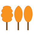 tree orange sign set 306 vector image