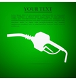 Gasoline pump nozzle sign Gas station flat icon vector image