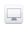 white tv icon Eps10 Easy to edit vector image vector image