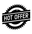Hot offer stamp vector image
