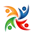 Swooshes teamwork union logo vector image