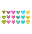 Colorful hearts patch set vector image