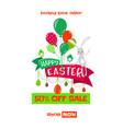easter spring sale vector image