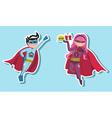 Superhero boys vector image vector image