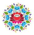 russian inspired folk art pattern - colorful vector image