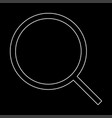 magnifying glass or loupe the white path icon vector image