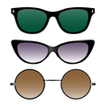set of sunglasses in retro style vector image