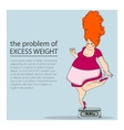 problem of excess weight vector image