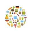 Oktoberfest Colorful Symbols vector image