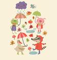 Joyful autumn vector image
