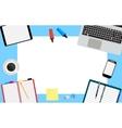 office desktop workspace vector image
