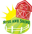 Rise And Shine vector image