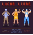 Lucha libre poster Vintage wrestling placard vector image vector image