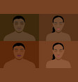 dark skin tone vector image