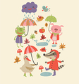 Joyful autumn vector image