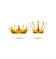 realistic 3d golden crown set vector image