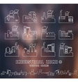 Set of factory icons in thin line style vector image