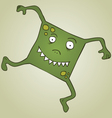 Square monster vector image