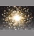 transparent glow light effect star sparkles vector image