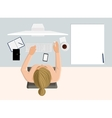 Working woman vector image