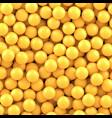 yellow balls background vector image