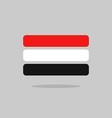 Yemen flag state symbol stylized geometric vector image
