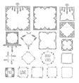 Monochrome boho tribal set of frames isolated in vector image