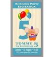 Kids birthday party invitation card vector image