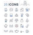 Tea Line Icons 3 vector image