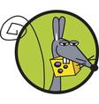 Rat cheese logo vector image