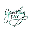 Lettering Groundhog Day vector image