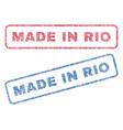 made in rio textile stamps vector image