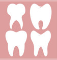 dental design teeth set vector image