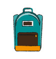 school backpack icon image vector image