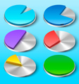 Business Pie Charts for Your Designs vector image