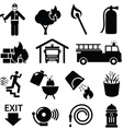 Fire fighters icon vector image vector image