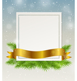 Decorative frame with golden ribbon vector image vector image